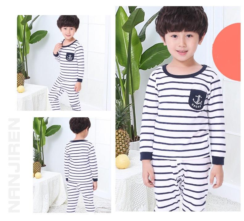 Big Kids Pyjamas /children Family Couple Pyjamas Set Up To Size 180cm Boys [pjo12] By Jolly Sg.