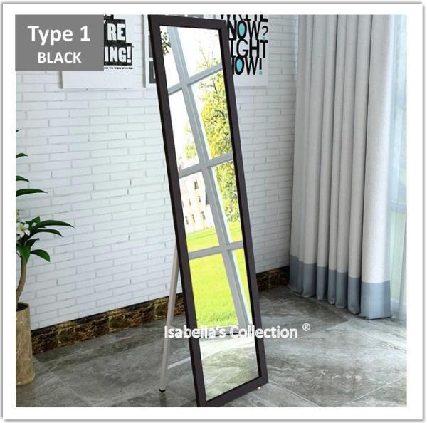 150cm*38cm Full Length Floor Mirror Pine Wood Frame Standing Makeup Dresser