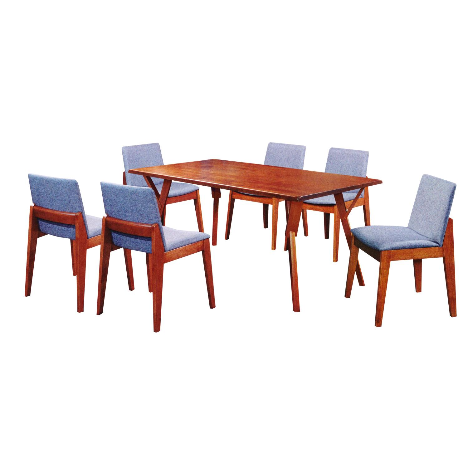 LIVING MALL_Faramond 2 Dining Set 1+6_FREE DELIVERY