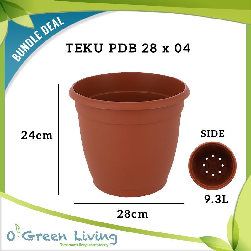 [Bundle of 04] TEKU PDB 28 POTS (28cm W x 24cm H)