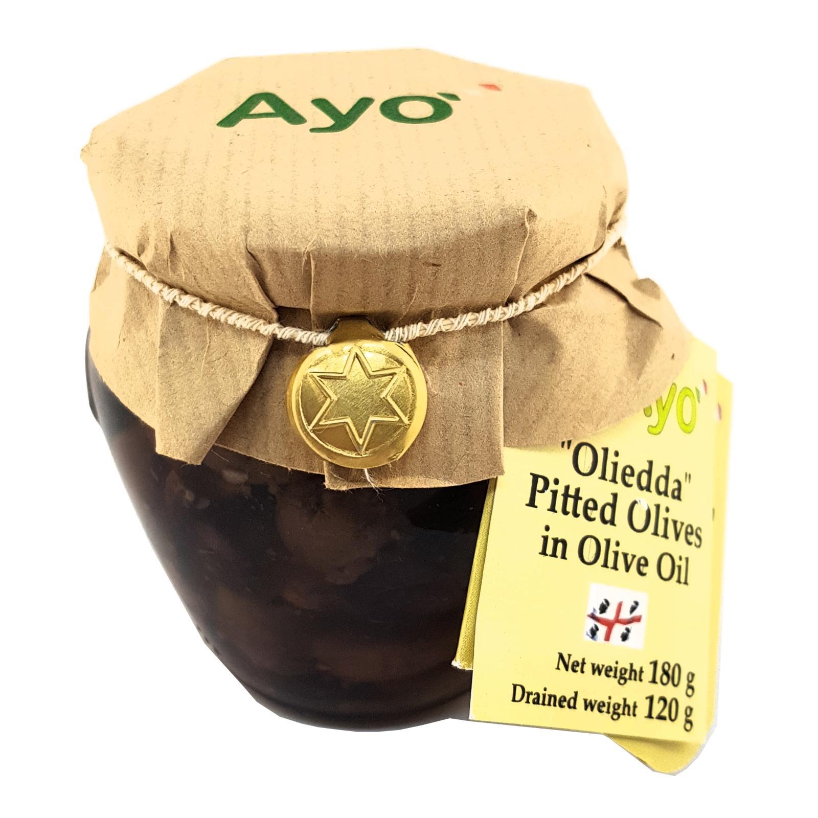 Ayo Oliedda Pitted Olives 180g By Horeca Marketplace.