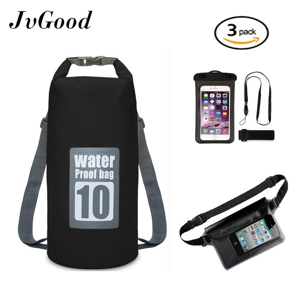 JvGood Waterproof Sport Dry Bag Roll Top Detachable Shoulder Straps Storage Bag  Waterproof Pouch Waterproof Phone c45acb7538144