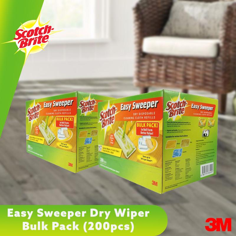 3m Scotch-Brite Easy Sweeper Dry Wiper Bulk Pack (200 Sheets) [bundle Of 2] By 3m Official Store