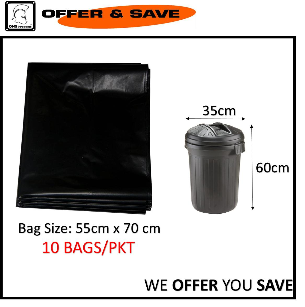 Black Trash/garbage Bag 2228 By Offer & Save.