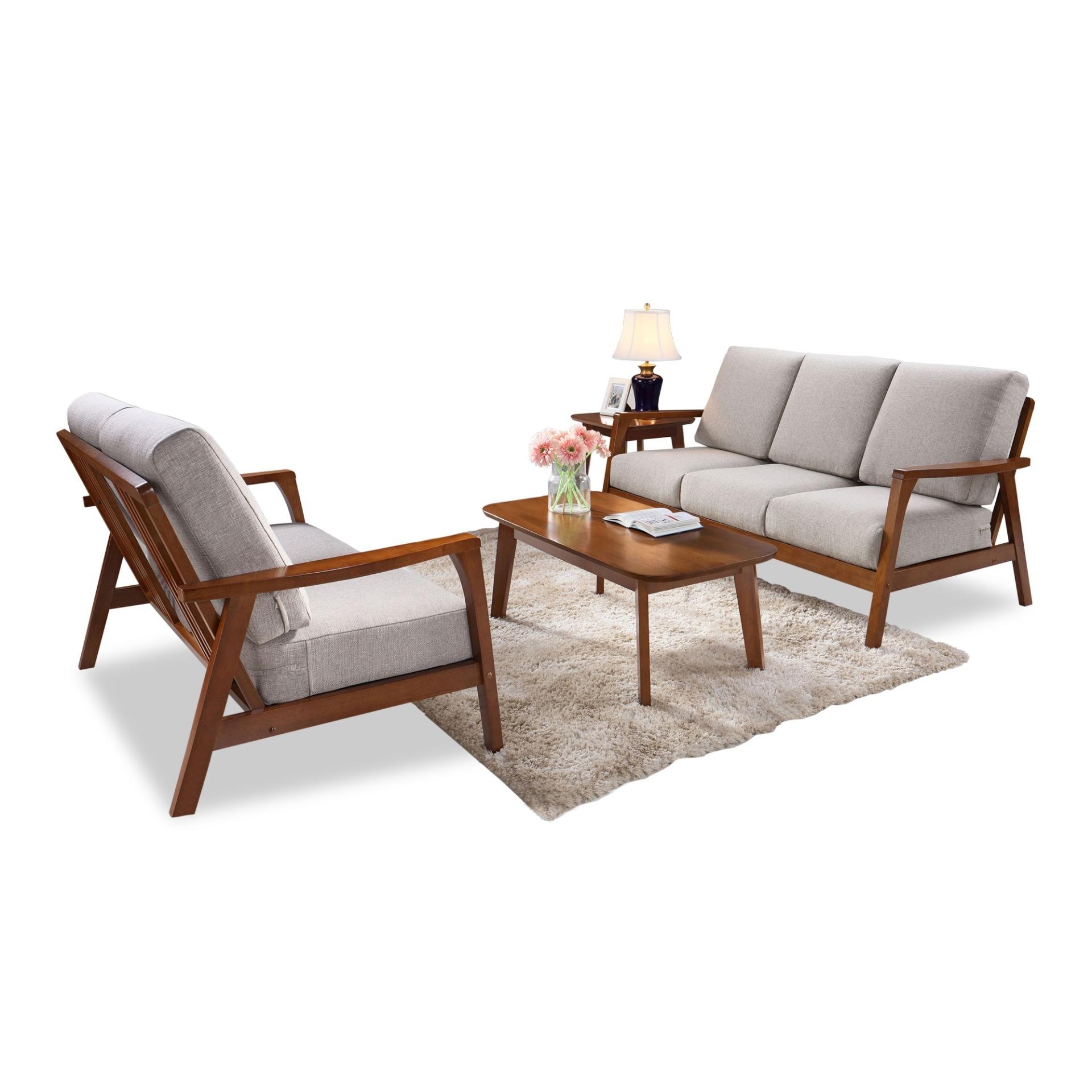 Axel 3+2 Seater Sofa With Coffee Table and Side Table (FREE DELIVERY)(FREE ASSEMBLY)