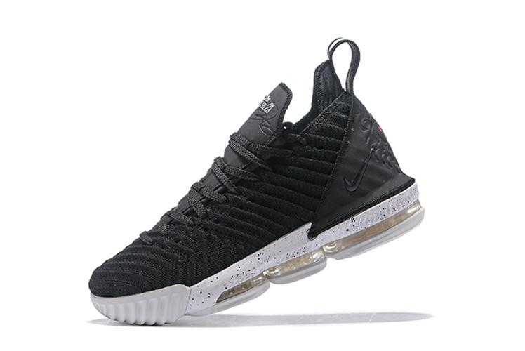 978b51b42c49 Nike Official LeBron James LeBron 16 Low Top BasketBall Shoe MENS LBJ (  Black White )