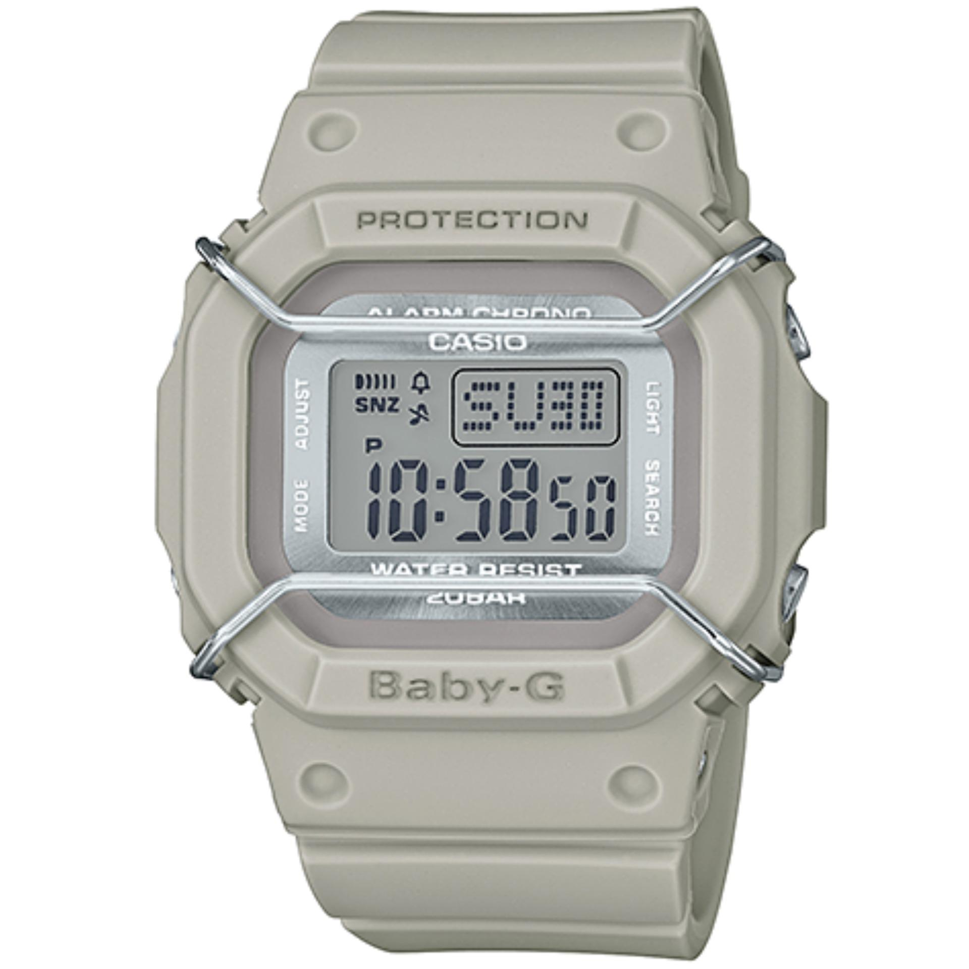 Baby G Beige Retro Square Face Guard Watch Bgd 501um 8dr Singapore Casio Bga 185fs 7a