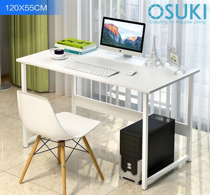 OSUKI Japan Quality Modern Office Table 120 x 55cm (White)