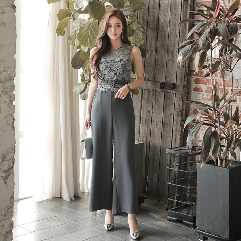 c30b7aa3a1e2 Ol Career Summer Wear Female Korean Style Slim Fit Elegant High-waisted  Sleeveless Onesie Sleeveless