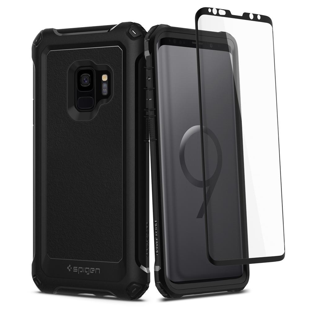 Who Sells Spigen Galaxy S9 Case Pro Guard Full Cover With Tempered Glass Cheap