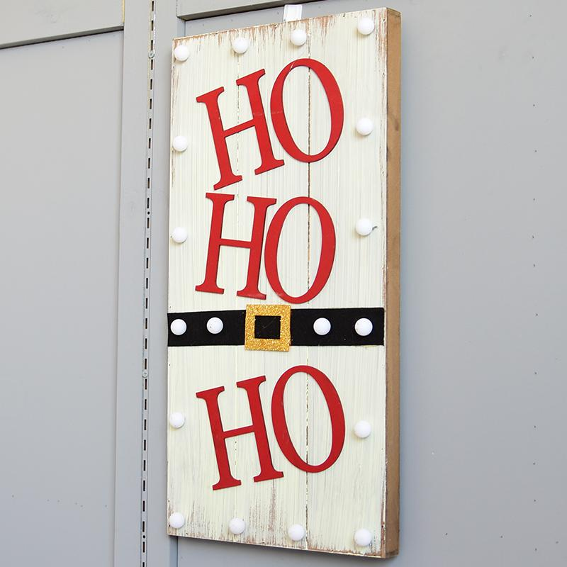 Happy. 58 Wood Christmas Hat Letter Lamp Box Decoration Walls Pendant Scene Decorative Christmas Decoration