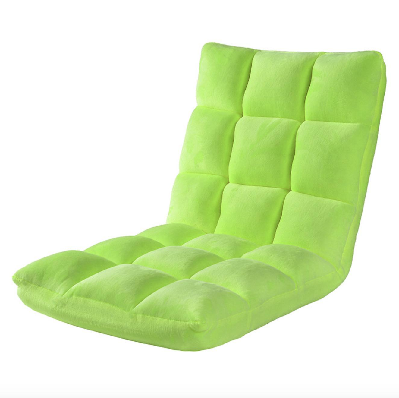 (Cotton Suede) 18 Cubes Washable 3-Fold Floor Chair - Small