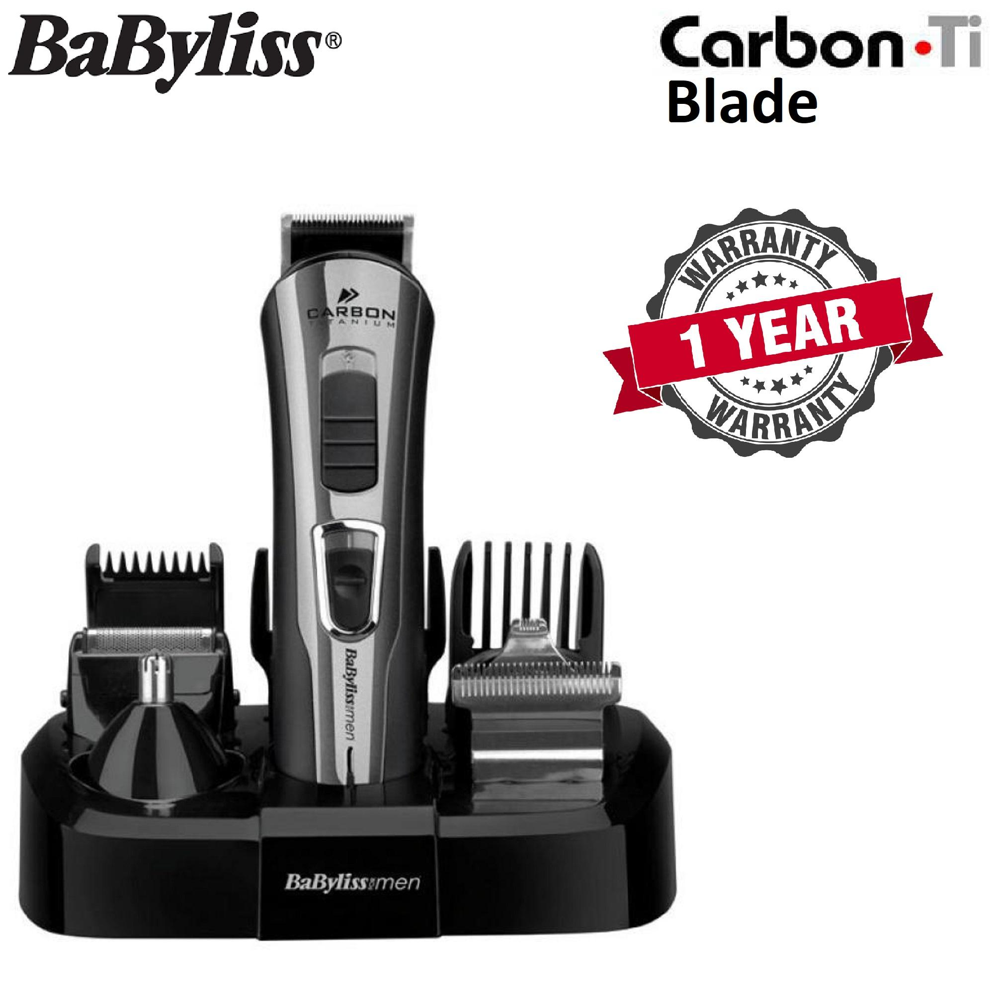 BaByliss 7425CU 10-in-1 Carbon Titanium Face Body Grooming Kit ( 1 YEAR 3b3a90062b5