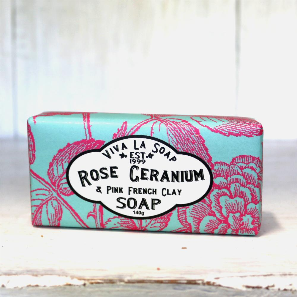 Who Sells The Cheapest Viva La Soap Rose Geranium Pink French Clay Online