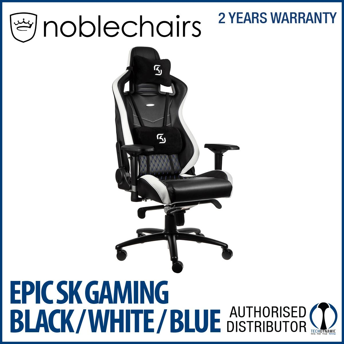 Noble Chairs Gaming Chair Epic Series Sk Gaming Black White Blue Best Price