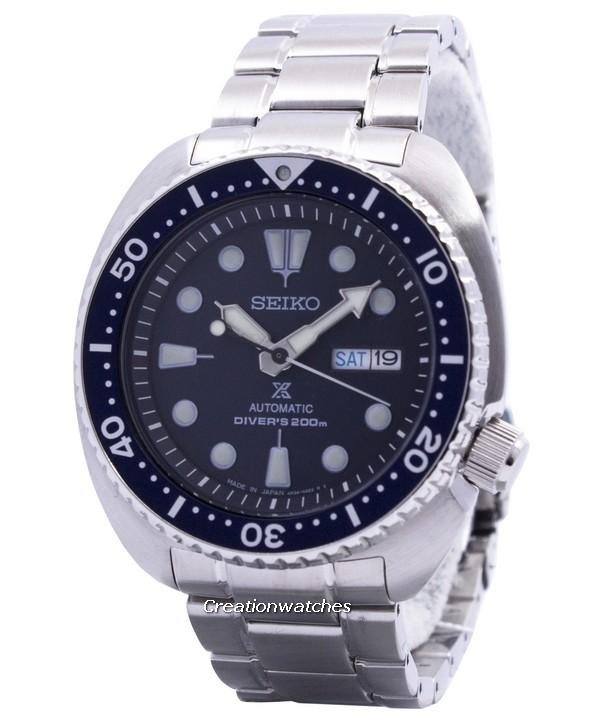 Seiko Prospex Turtle Automatic Divers 200M Men's Silver Tone Stainless Steel Strap Watch SRP773J1