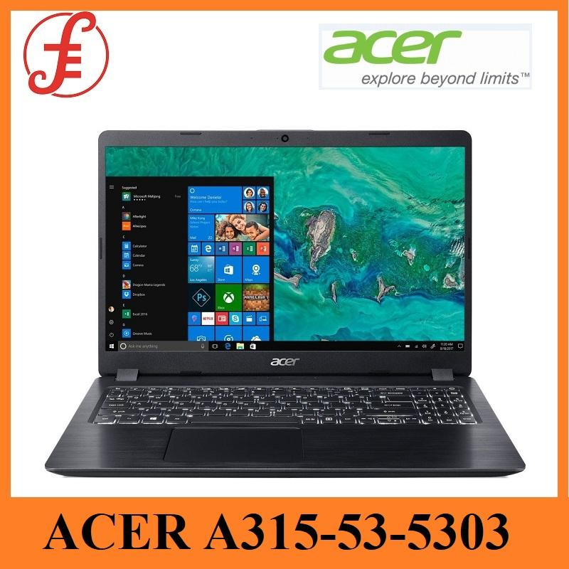 ACER ASPIRE 3 (A315-53)  A315-53-5303 (BLACK) 15.6 INCH INTEL CORE I5-8250U 4GB+16GB OPTANE 1TB HDD WIN 10