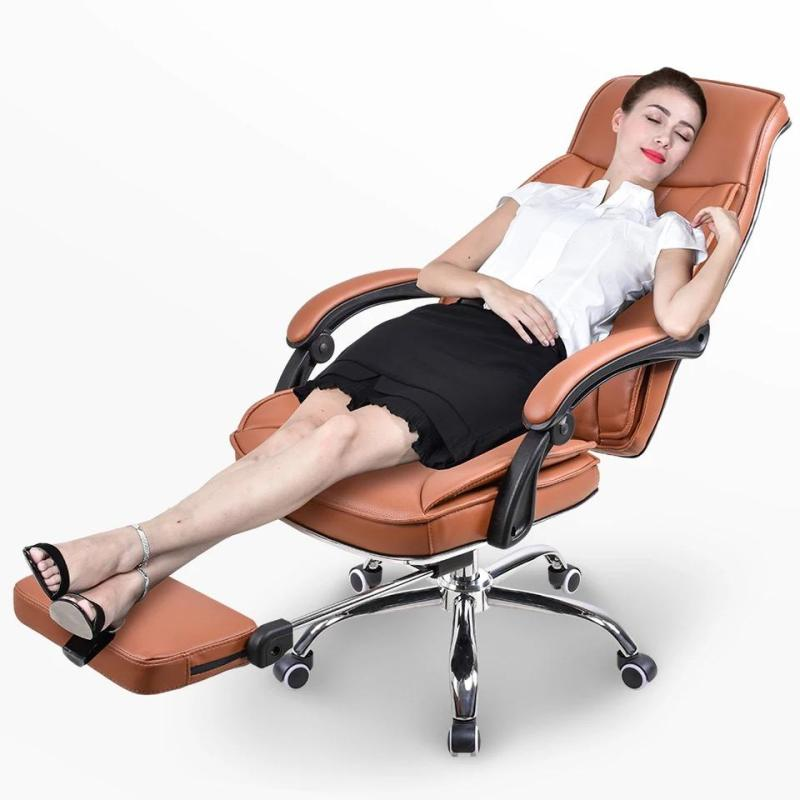 Ergonomic offie chair leather chair boss chair with foot rest P22 (Free installation) Singapore