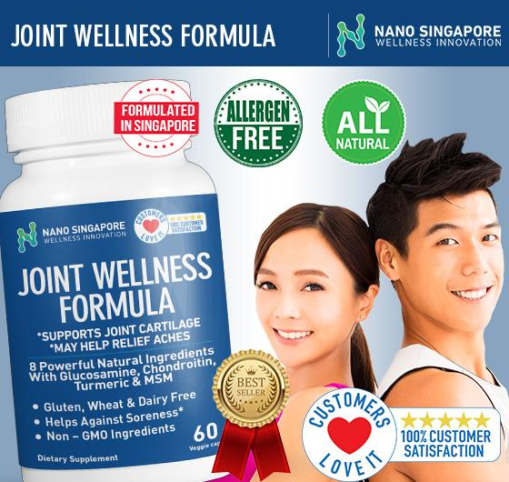 Nano Sg Glucosamine Triple Strength 1500mg + Tumeric + Boswellia + Msm Quick Relief Of Knee Pain By Nano Singapore.