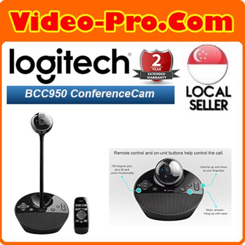 Logitech BCC950 Video Conference Webcam, HD 1080p Camera with Built-In Speakerphone 960-00866