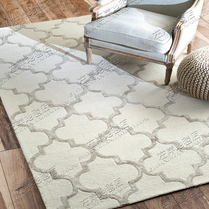 HYUNDAI Plaid American IKEA Model Room Rug Living Room Teapoy Table Sofa Bedroom Bedside Library Handmade Carpet