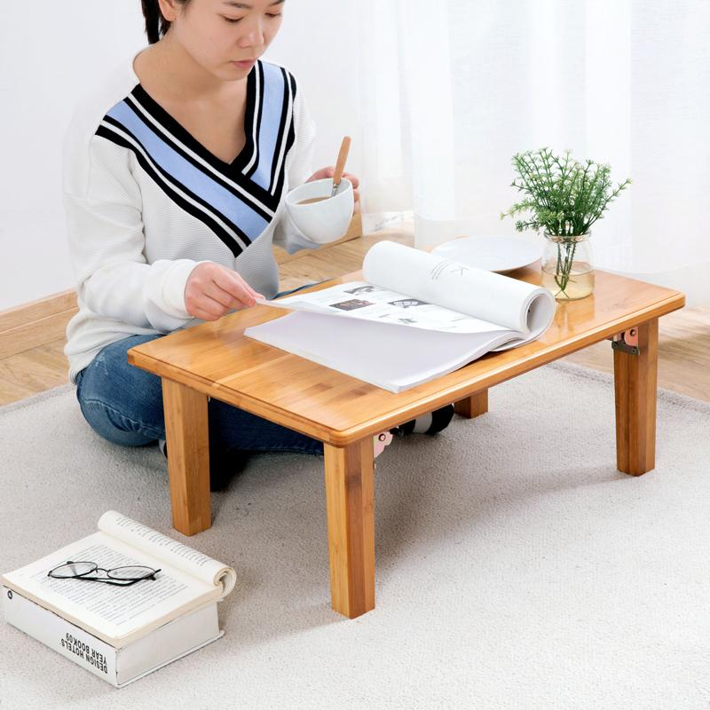 Bay Window Table Moso Bamboo Folding Table Computer Desk Dormitory Bed Desk Lazy Table Students Laptop Small Table