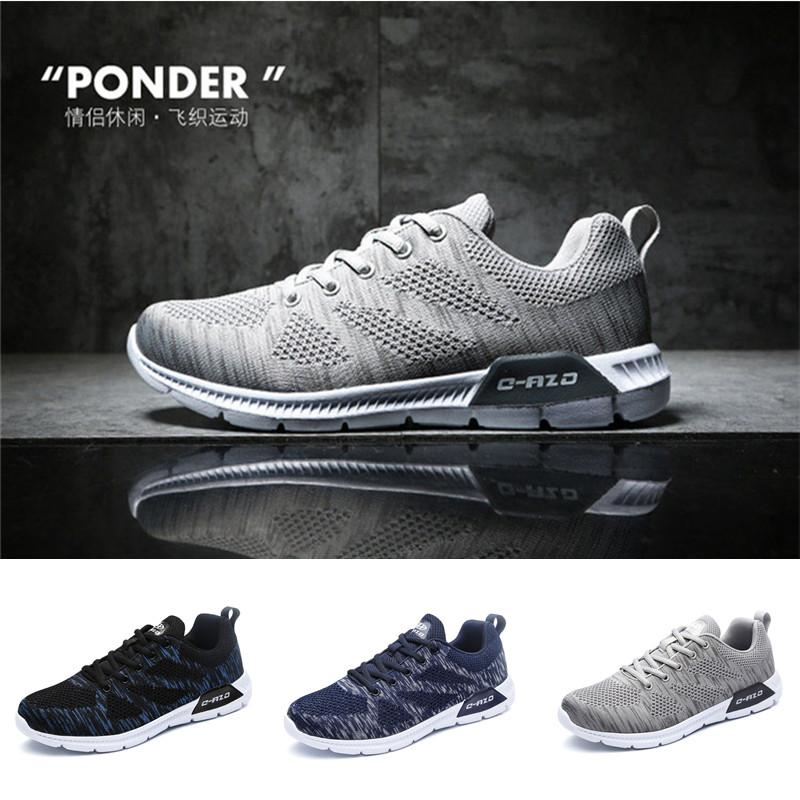 Price Cc Size 39 45 Men S Outdoor Sport Shoes Light Weight Running Shoes Comfortable Fly Knitting Vamp Shoes China
