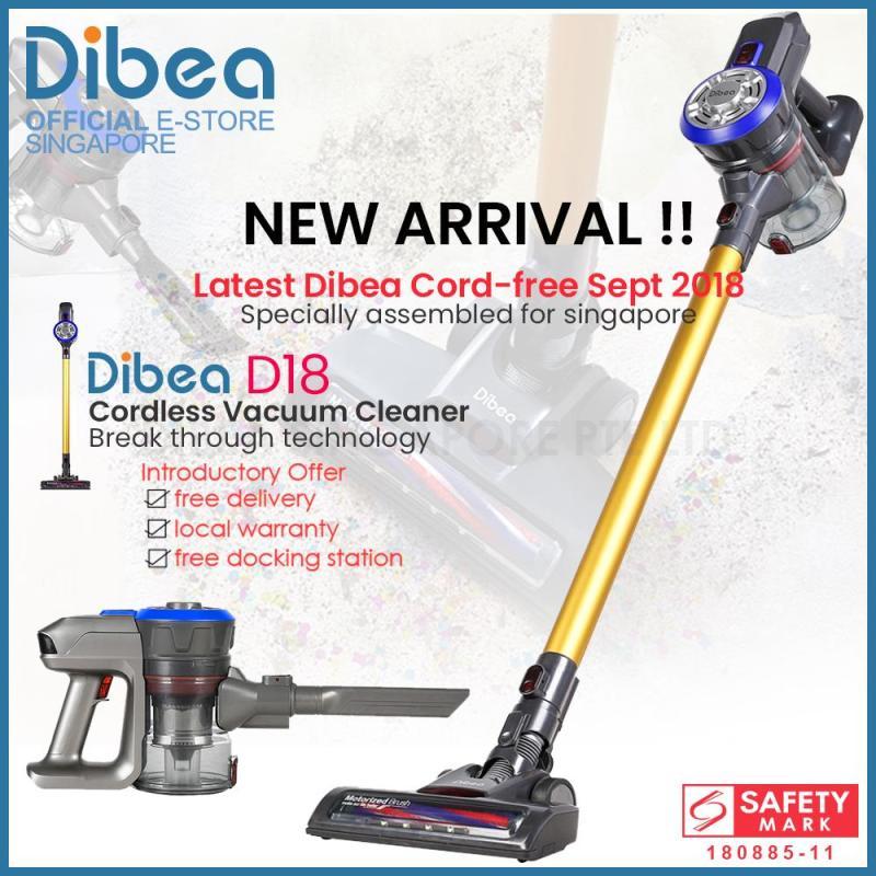 [Official Dibea Singapore] Dibea D18 Cordless Vacuum Cleaner Handheld Stick LED Light Singapore