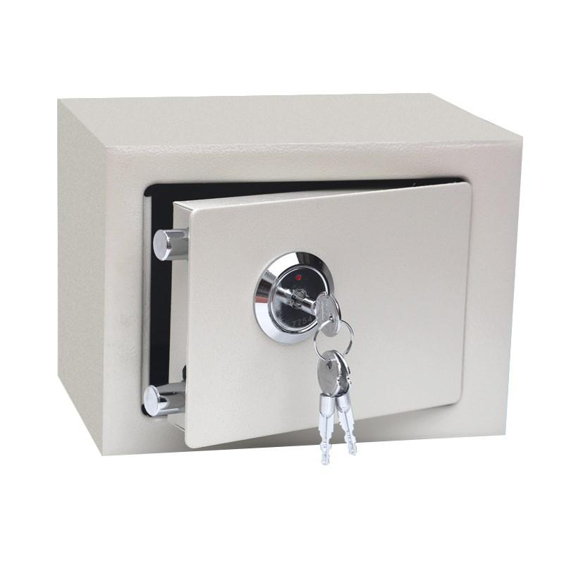 Mini Solid Steel Key Operated Money Cash Jewelry Deposit Security Safe Box