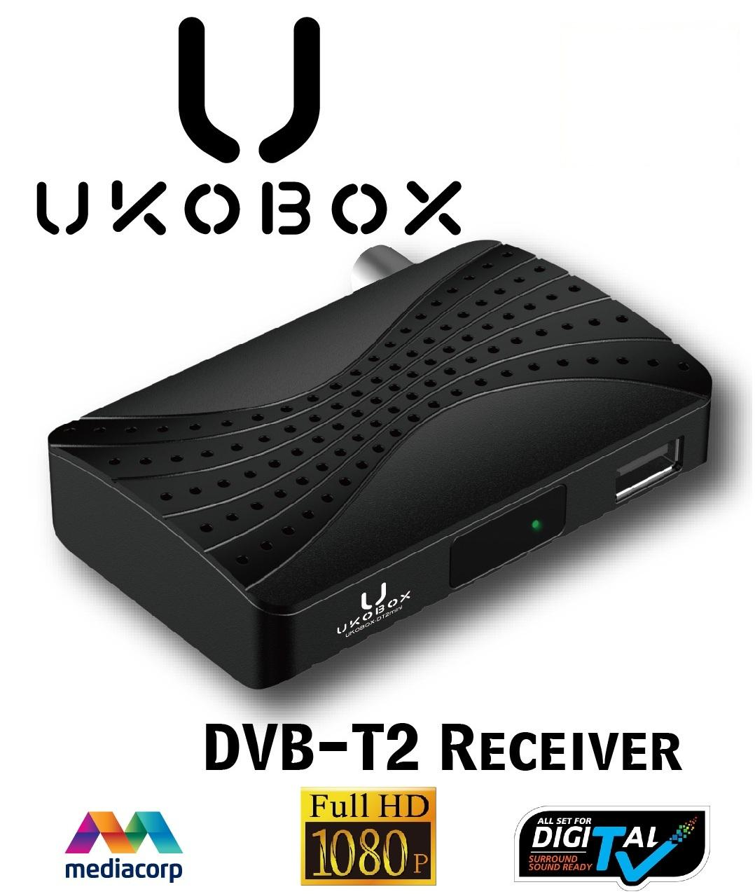 ★SG Warranty★ UKOBOX DVB-T2 Receiver / DVB-T2 Tunner / dvb t2 box / Digital TV Tuner with Antenna