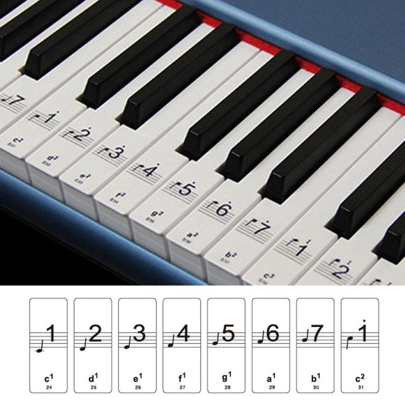befcb12c7ee BK 88 Keys Piano Laminated Sticker Set is perfect to stick on the 88 keys of