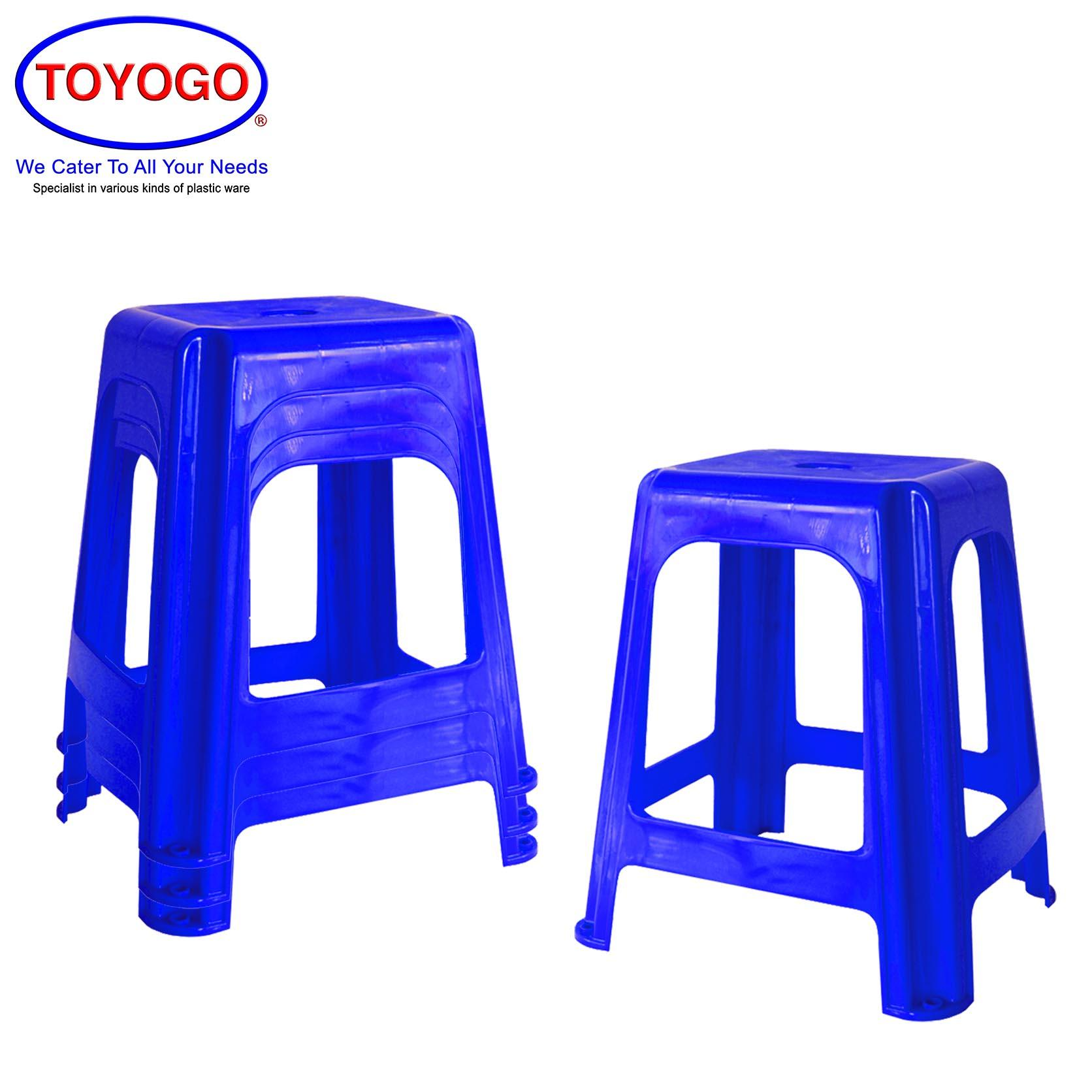 Toyogo Adult Comfort Plastic Dining Stool (Bundle of 4) (8596)