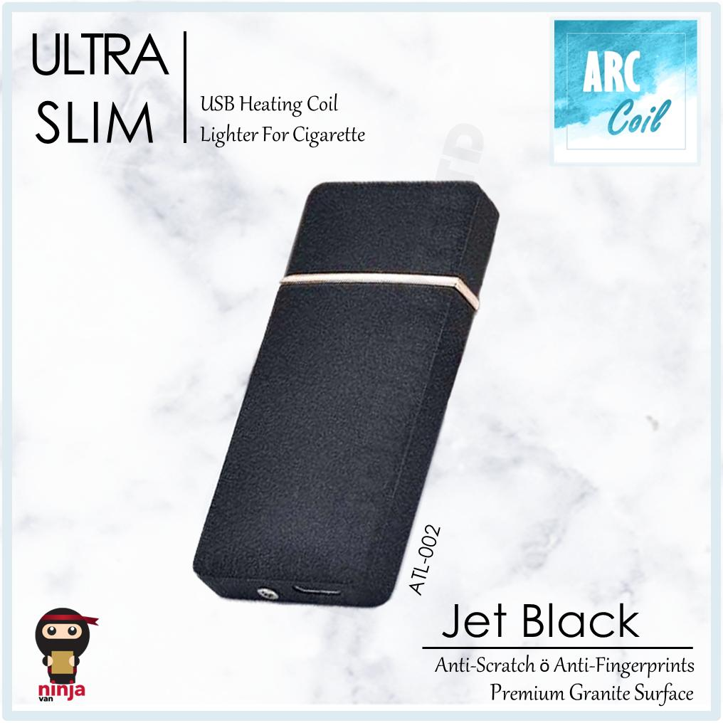 Ultra Slim Usb Lighter Rechargeable Windproof Rosegold Black Silver By Ydc Corporation Pte Ltd.