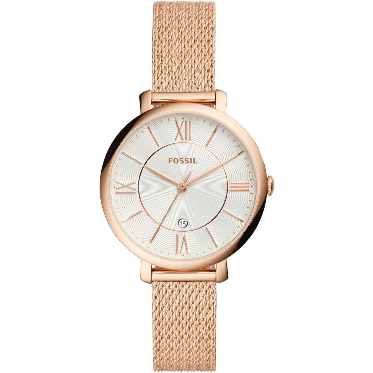 Buy Sell Cheapest Fossil Es4202set Jacqueline Best Quality Product Es3487 Original Three Hand Rose Gold Tone Stainless Steel Watch Es4352