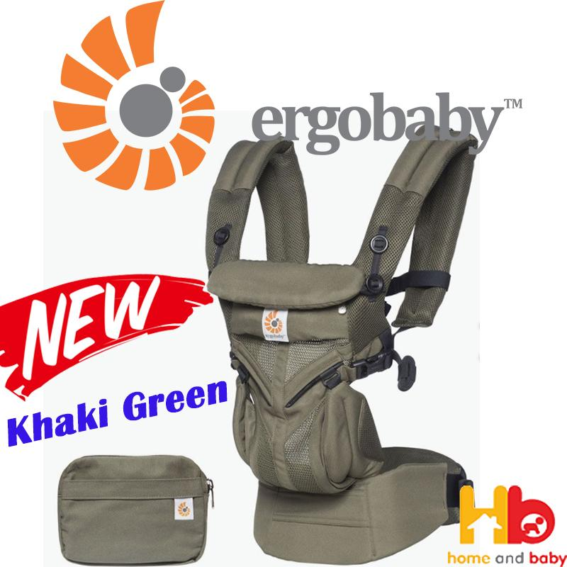 4c9ae2c6120 Ergobaby OMNI 360 All-In-One Cool Air Mesh Baby Carrier - Khaki Green  Singapore