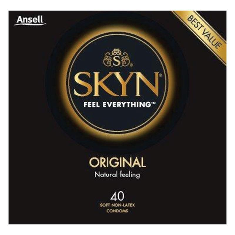 Ansell Skyn® Original Condoms 40 Pack September 2023 By Australia Health Warehouse.