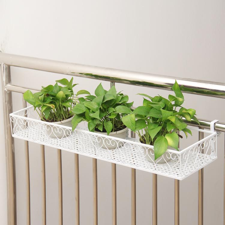 Balcony Hang Flower Plant Metal Shelf Outdoor DecorationMWT3