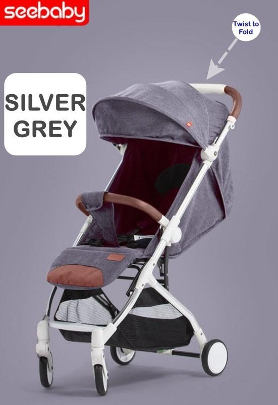 Foldable Cabin Size Baby StrollerLight Weight1-Hand FoldComfy & ConvenienceGood for daily use & Travel Singapore