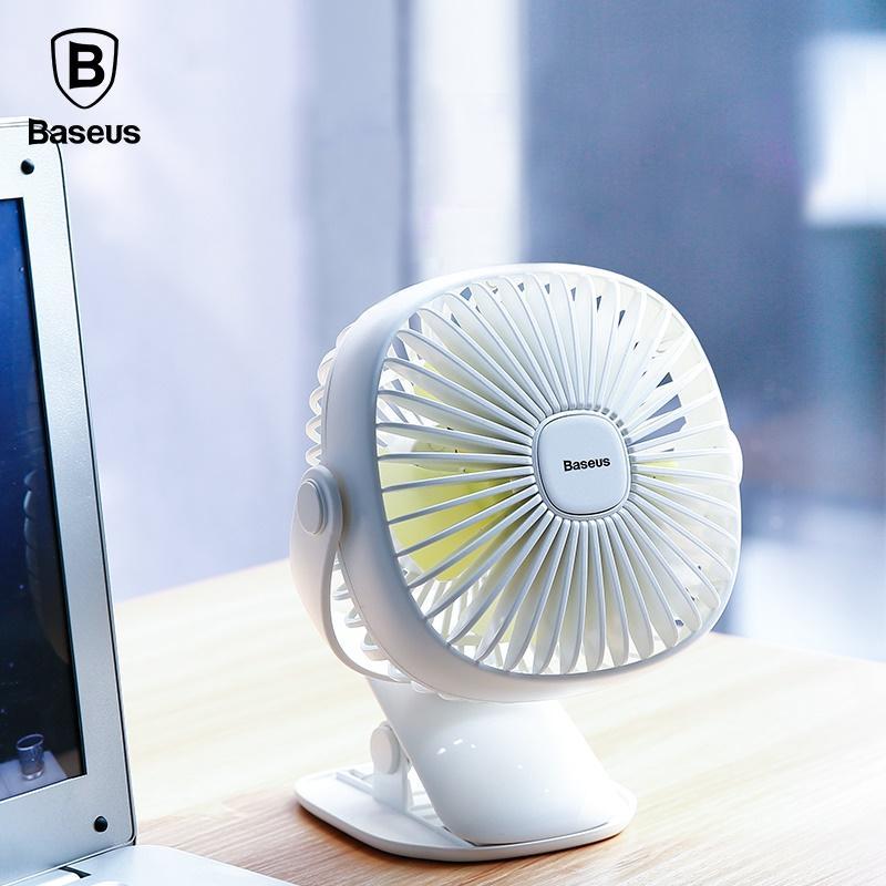 Baseus Mini USB Rechargeable Air Cooling Desk Fan Clip