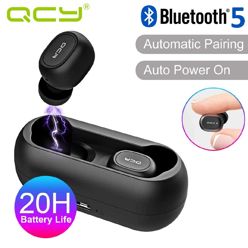 QCY T1C Bluetooth 5.0 Truly Wireless Bluetooth Earphones True Wireless Headphones, with Quick Charge,