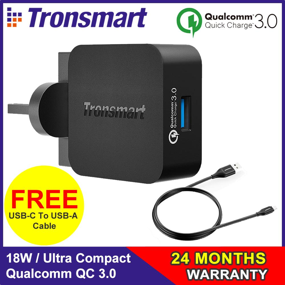 Sale Tronsmart 18w Quick Charge 3 Port Online Singapore July 2018 30 42w Charger W3pta Qualcomm Certified How Do I Get Wall Wc1t Sg 3pin Plug