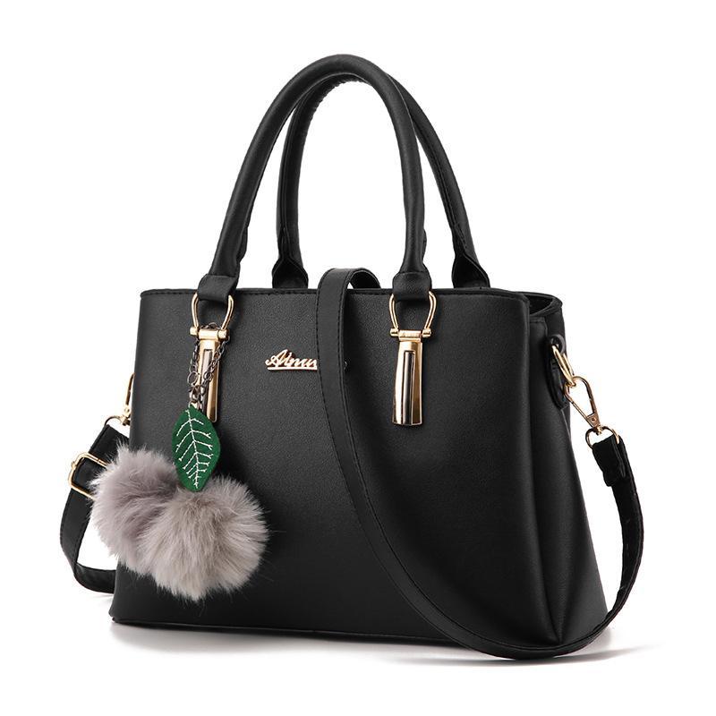 Womens Bag 2019 Korean Style Large Bag New Style Simple Fashion Handbag Autumn Shoulder Saffiano Bag