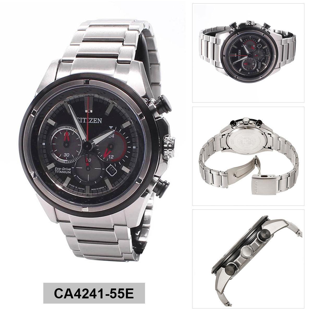 Citizen Watches For Men Black Price In Singapore Ca4285 50h Eco Drive Chronograph Silver Titanium Case Bracelet Mens Ca4241 55e