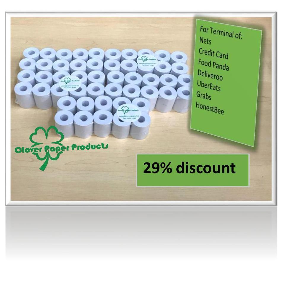 Retail 50 Rolls Of Nets Credit Card Machine Coreless Thermal Paper Roll 57 X 38