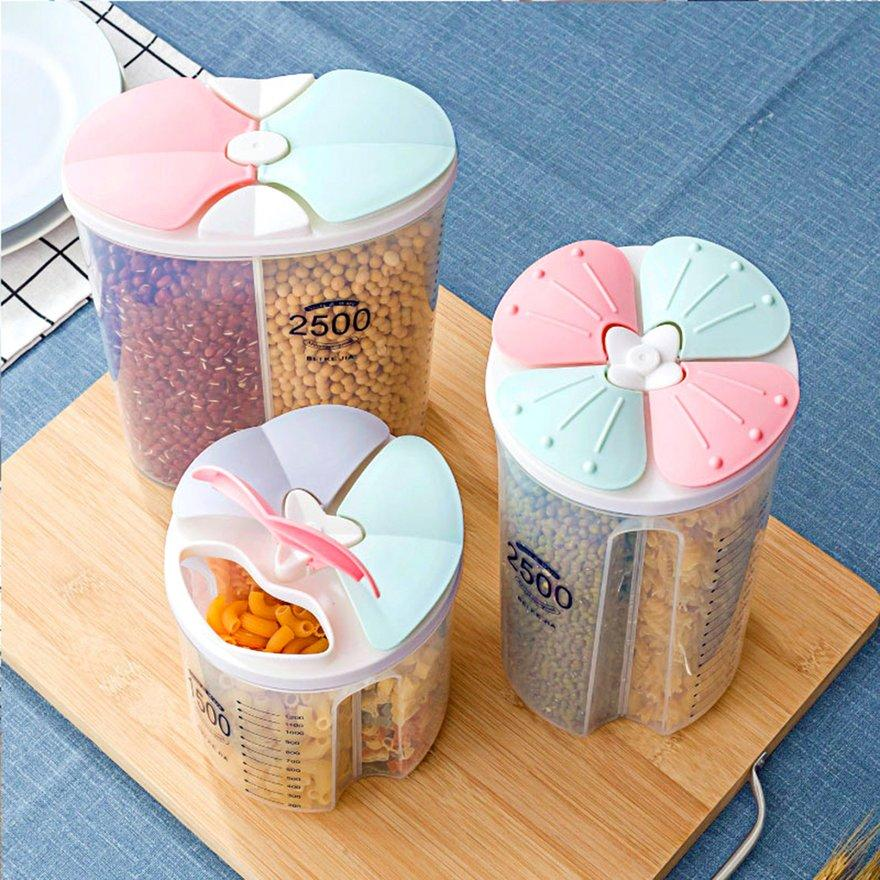 ANEXT Kitchen Food Grain Bean Rice Plastic Storage Container Box Tank