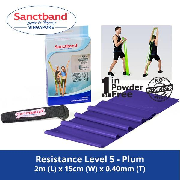 Compare Prices For Sanctband Resistance Exercise Band Resistance Level 5 Plum
