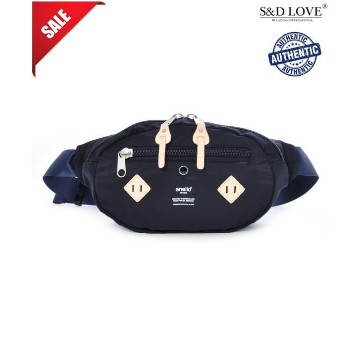 Recent Anello At B1626 Logo Print Nylon Waist Bag