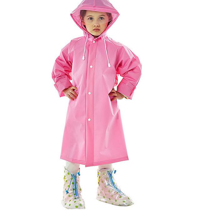9ce95871 Kids Raincoat Eva Thick Rainwear Rain Poncho With Hood &school Bag Backpcak  Cover For Children Student