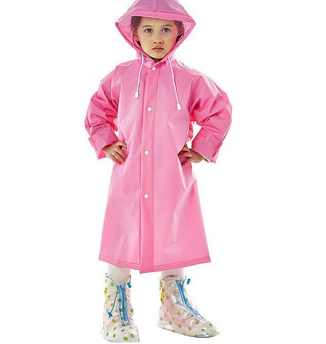 Kids Raincoat Eva Thick Rainwear Rain Poncho With Hood &school Bag Backpcak Cover For Children Student Pupil - Intl (ready Stock) By Trait-Tech Trade Center.