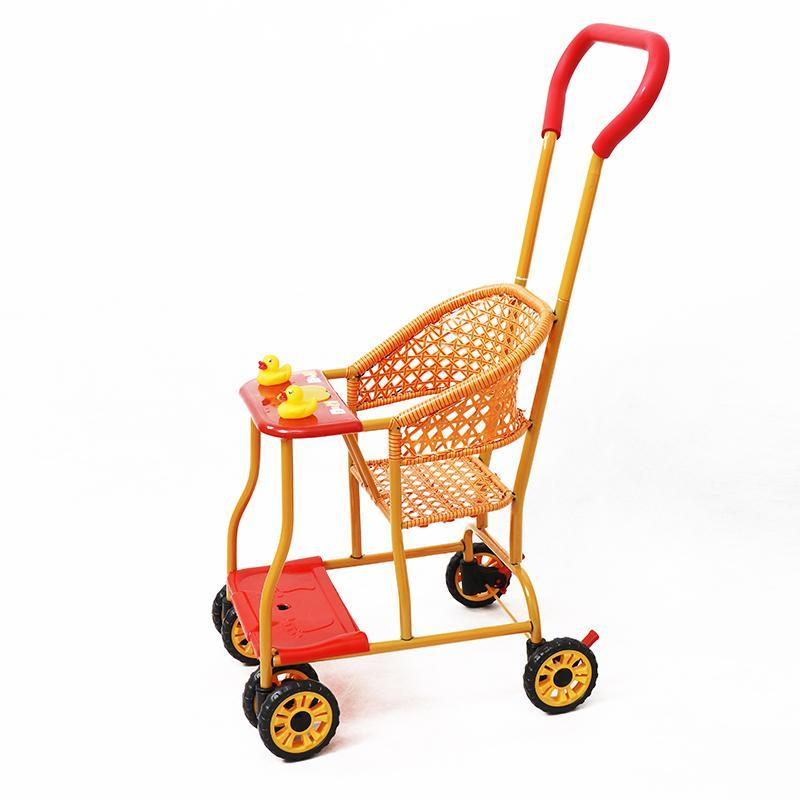 Folding Light Baby Bamboo Mat Summer Children Trolley Bamboo Car Cart Infant Cart 1-3 Years Old Bamboo Strip Singapore
